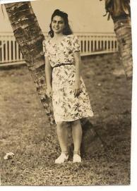 Mother in floral dress
