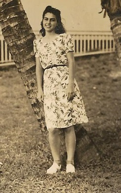 Mother in floral dress 2