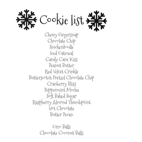 e-cookie-list